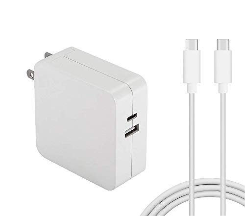 61W USB-C Power Adapter Compatible for Mac Book Pro 13 Inch for 65W Asus Lenovo laptop with USB-C Cable Power Supply Cord