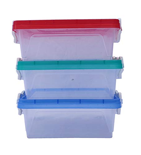 R2 Multipurpose Handle Lock Container Set, Butter Boxes Set of 3 (Each 750 ML)