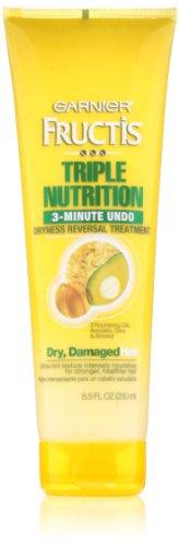 Nutrition Fructis Triple Conditioner (Garnier Fructis Triple Nutrition 3 Minute Undo Dryness Reversal Treatment, 8.50 Fluid Ounce)