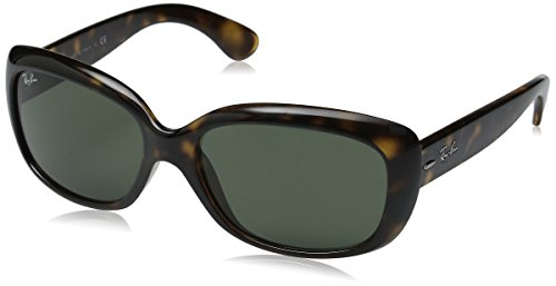 Ray-Ban RB4101 Jackie Ohh Highstreet Fashion Sunglasses - Light Havana/Crystal Green, One Size Fits -
