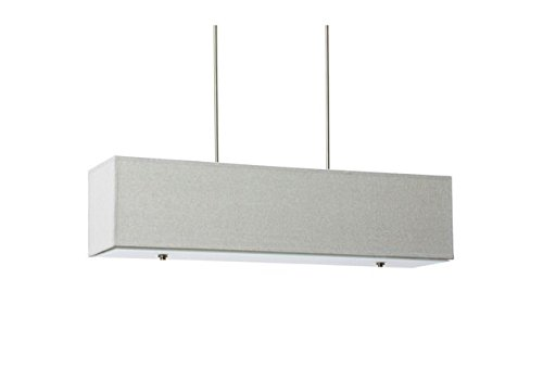 Nickel Rectangular Chandelier (Modern Contemporary Metal Grey Rectangular Chandelier)