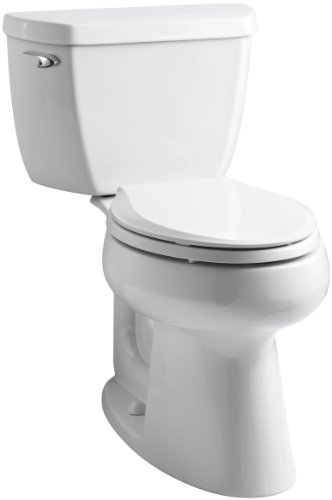 Kohler K-3658-0 Highline Classic Class Five Comfort Height Toilet with Left-Hand Trip Lever, (Classic Toilet)