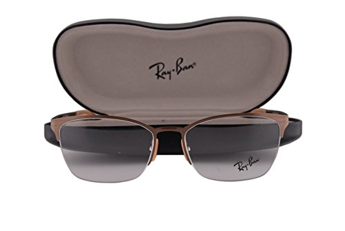 Ray Ban RX6345 Eyeglasses 52-17-135 Brushed Light Brown 2732 RX - Ban Angeles Ray Los