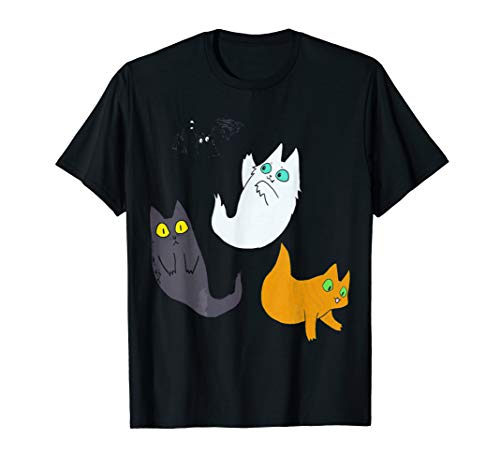 Cute Halloween Ghost Cat Tshirt - Black Cat Halloween Shirt -