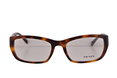 Prada PR18OV Eyeglasses 54-18-135 Light Havana Red TKR1O1 VPR18O For Women (FRAME - Prada Sunglasses Tortoise Cat Eye