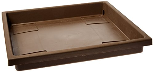 Square Classic Tray (Akro Mils SRO15500E21 Accent Tray for the 15.5 Inch Accent Planter, Chocolate, 14-Inch Tray)