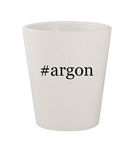 #argon - Ceramic White Hashtag 1.5oz Shot Glass