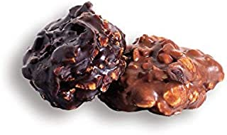 product image for Asher's Chocolates, Dark Chocolate Peanut Clusters, Nut Clusters Smothered in Chocolate, Bulk Assorted Chocolate, Small Batches of Kosher Chocolate, Family Owned Since 1892, 14oz (Dark Chocolate)