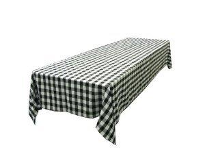 LinenTablecloth 60 x 102-Inch Rectangular Tablecloth Black & White Checker