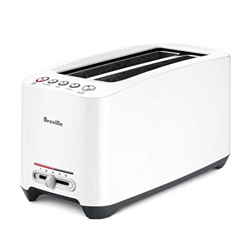 Breville the 'Lift & Look' BTA630XL One-Touch Extra Long 4-Slice Toaster - White