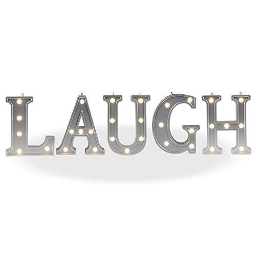 DELICORE Decorative Illuminated Marquee Word Sign (Silver Color 4.21