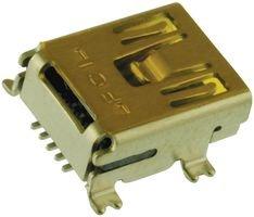 - FCI - 10033526-N3212MLF - MINI USB CONNECTOR, RECEPTACLE 5POS, R/A SMD