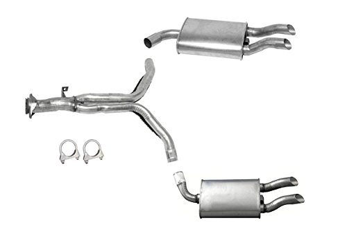 Walker Chevrolet Corvette Muffler (Mac Auto Parts 138978 1986-1990 Chevy Chevrolet Corvette Rear Y Pipe With Dual Muffler Exhaust System MADE IN USA AND CANADA)
