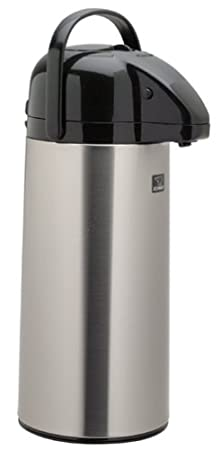 Polished Stainless 2.5 Liters Zojirushi AAPE-25SCXA Air Pot Beverage Dispenser Made in Japan Hot or Cold
