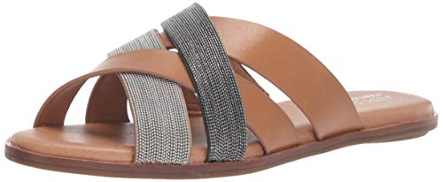 Aerosoles Women's Martha Stewart Pilot Slide Sandal, Dark Tan Combo, 10 M US Double Criss Cross Sandal