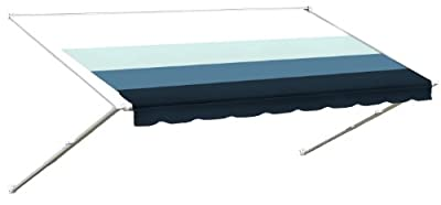 RV Vinyl Awning Replacement Fabric - Pacific Blue 16'