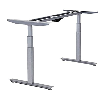 Rise Up Electric Adjustable Height Width Standing Desk Legs Frame Base Ergonomic Motorized Sit To