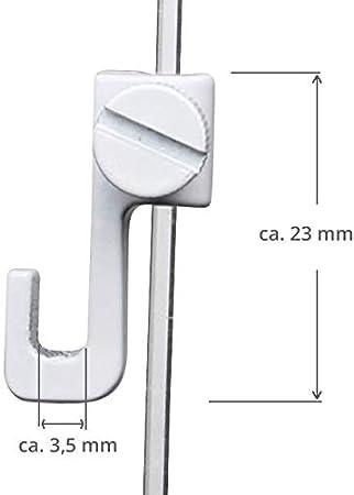 SOFT-RAIL/® 10 St Zubeh/ör Galerieschienen /& Bilderschienen Silber Bilderhaken Mini