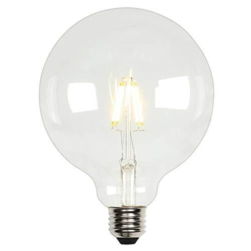 Westinghouse Lighting 4317500 6.5 (60-Watt Equivalent) G40 Dimmable Clear Filament Medium Base LED Light Bulb,