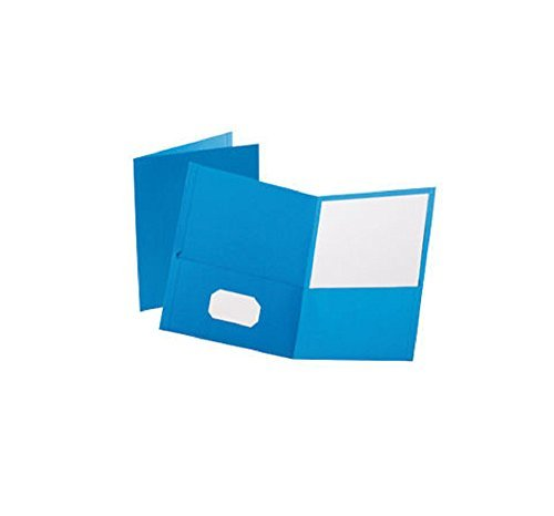 Oxford Twin-Pocket Portfolio Light Blue Letter 25ct (Pack of 2 , Total 50ct) ()