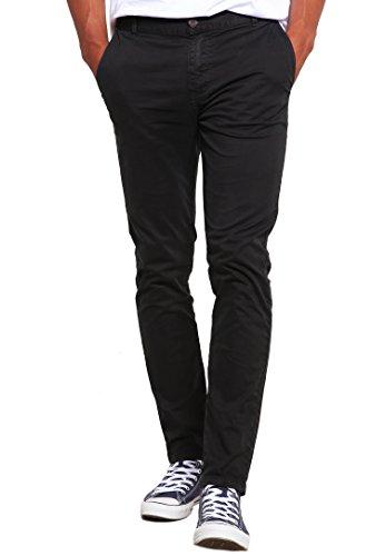 Chino-Hose für Herren Slim-Fit in Grau Anthrazit von ★ The Style Room ★ Stylische Männer-Stoffhose, eng Skinny-Fit, 33