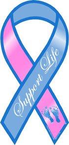 Support Life Awareness Mini Ribbon Magnet - Mini Awareness Ribbon