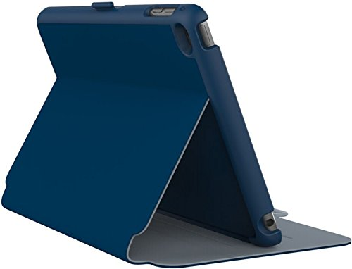 Speck Products StyleFolio Case and Stand for iPad Mini 4, Deep Sea Blue/Nickel Grey ()