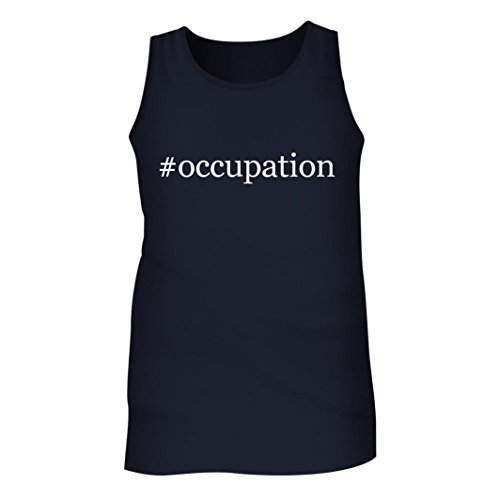 #Occupation - Men's Hashtag Adult Tank Top, Navy, Large (Occupation Sensor Switch)
