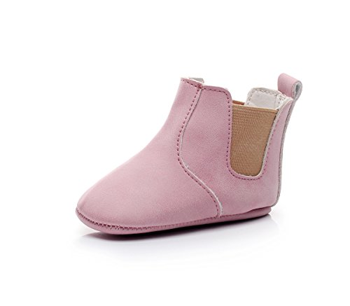Isbasic Baby Girls Boys Ankle Boots Infant Moccasin Soft Sole Chelsea Boots - Boots Walking Childrens