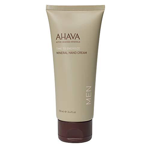 AHAVA Men's Dead Sea Mineral Hand Cream, Time to Energize - 3.4 Fl - Mens Hand Cream