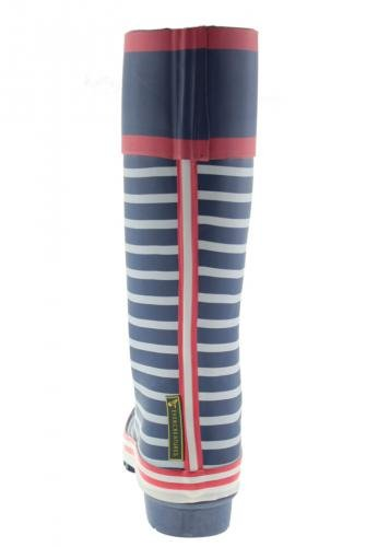 Evercreatures Ladies Bristol Wellies Striped Marine Pattern - Various Sizes