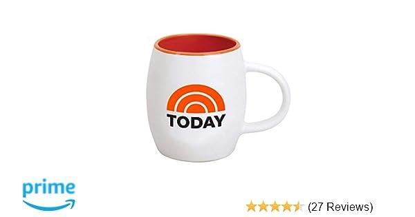 f40cd510120 Amazon.com: TODAY Logo Ceramic Mug, White with Orange Interior 15 oz -  Official Coffee Mug As Seen On the TODAY Show with Savannah Guthrie, Hoda  Kotb and Al ...