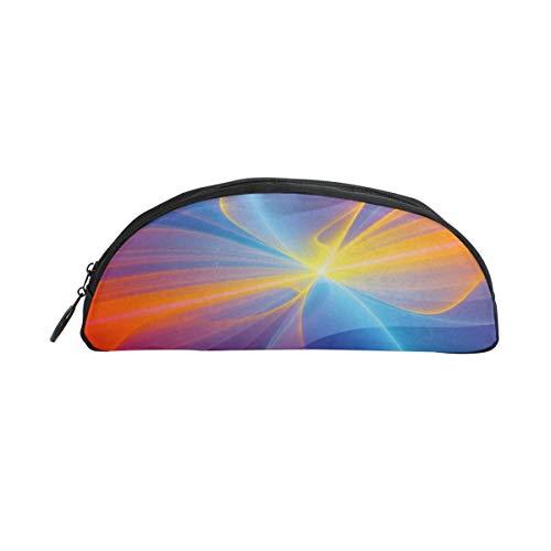 HengZhe Pencil Case Colorful Rainbow Pen Bag Cosmetic