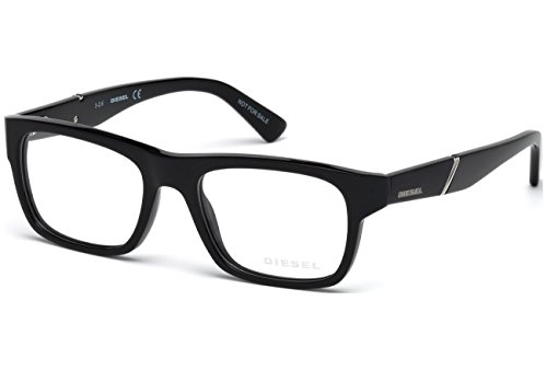 Diesel DL5240 Eyeglass Frames - Shiny Black Frame, 51 mm Lens Diameter DL524051001