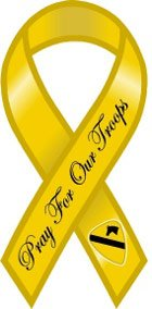 1st Cav Pray For Our Troops Yellow Ribbon Magnet