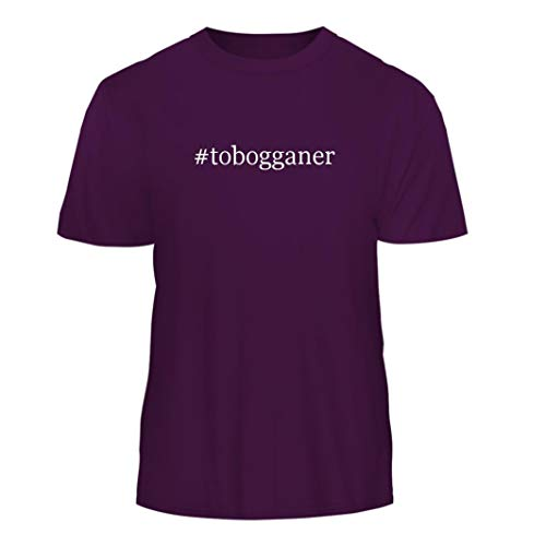 Tracy Gifts #Tobogganer - Hashtag Nice Men's Short Sleeve T-Shirt, Purple, Medium