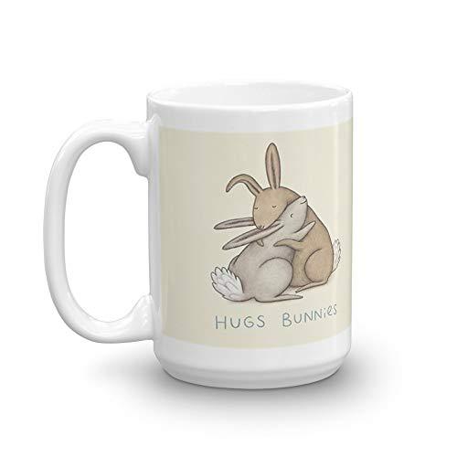 Hugs Bunnies 15 Oz White Ceramic