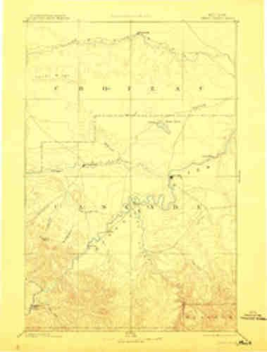 Great Falls Mt Topo Map  1 250000 Scale  1 X 1 Degree  Historical  1886  Updated 1912  19 9 X 15 1 In   Polypropylene