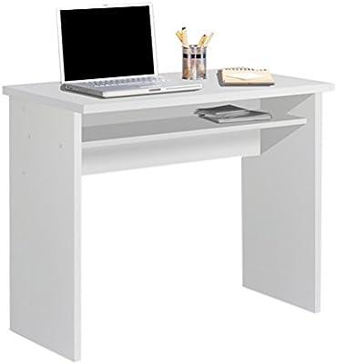HOGAR24 ES Mesa Escritorio Estudio con Bandeja Color Blanco ...