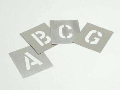 Stencils lettere dellalfabeto motivo Set di tavolette zincate