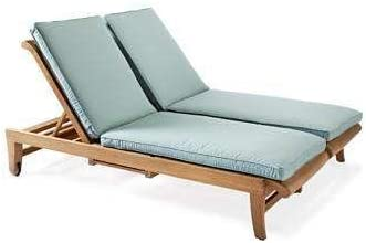 TeakStation Outdoor Sunbrella Fabric Custom Made Cushions for Giva Double Chaise Lounger – Cushions Only TSCHGV2CS