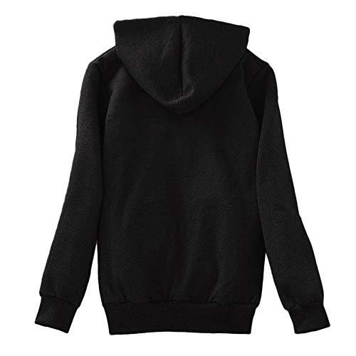 Clearance! Sunfei Women's Casual Winter Warm Sherpa Lined Zip Up Hooded Sweatshirt Jacket Coat (Black, Large)