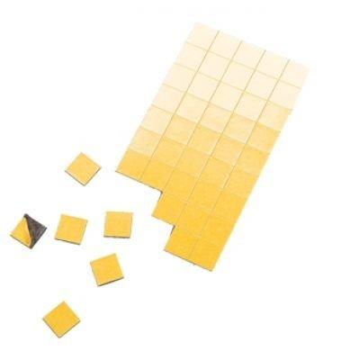 Magnet-Plättchen 100 Stück - selbstklebend - 20 mm x 20 mm - Stärke: 1,2 mm - schwarz - TimeTex 93290 - selbstklebende Magnetplättchen - Magnete