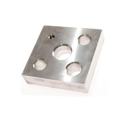 Kimble Chase 720200-0001 Heating Block for Standard Taper Size 14/10 Kit, Solid Bottom, 0.75'' Height, 3'' Width, 3'' Length