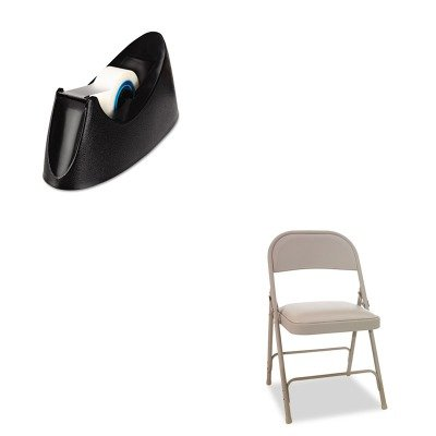 KITALEFC94VY50TUNV15001 - Value Kit - Best Steel Folding Chair w/Padded Seat (ALEFC94VY50T) and Universal Desktop Tape Dispenser (UNV15001) by Best