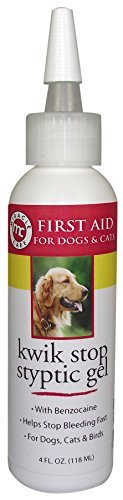 Miracle Care by Miraclecorp/Gimborn 4-Ounce Kwik-Stop Styptic Gel with Benzocaine for Dogs and Cats by Miracle - Stop Kwik Gimborn Gel