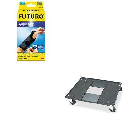 KITMMM10770ENSAF4188 - Value Kit - Safco Stacking Chair Cart (SAF4188) and Futuro Adjustable Reversible Splint Wrist Brace (MMM10770EN) by Safco