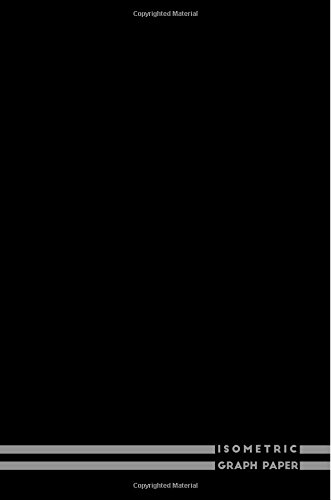 Isometric Graph Paper: (Graph Paper Notepad Black 6x9) PDF
