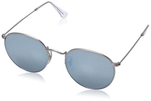 Ray-Ban Metal Round Sunglasses, Matte Silver, 53 mm by Ray-Ban