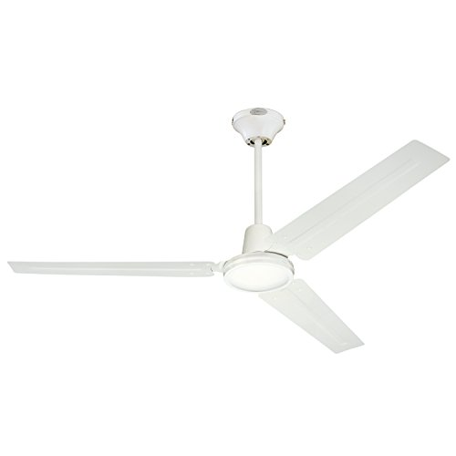 Commercial ceiling fan amazon 7812700 industrial 56 inch three blade indoor ceiling fan white with white steel blades aloadofball Images